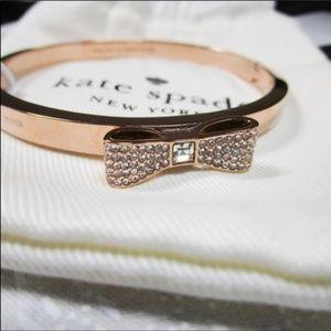 Kate Spade Rose Gold Ready Set Bow Bracelet